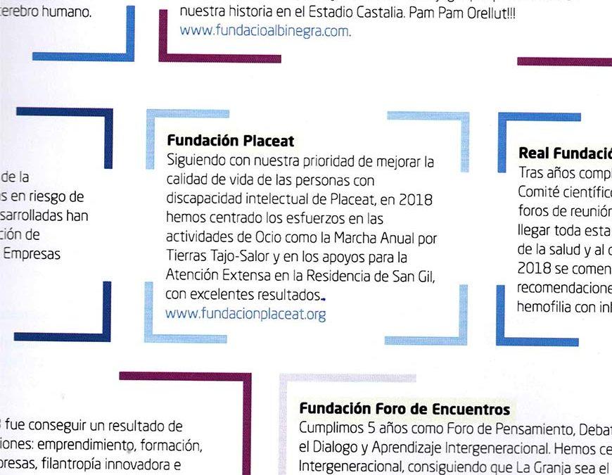 Fundación Placeat en la Memoria de la AEF