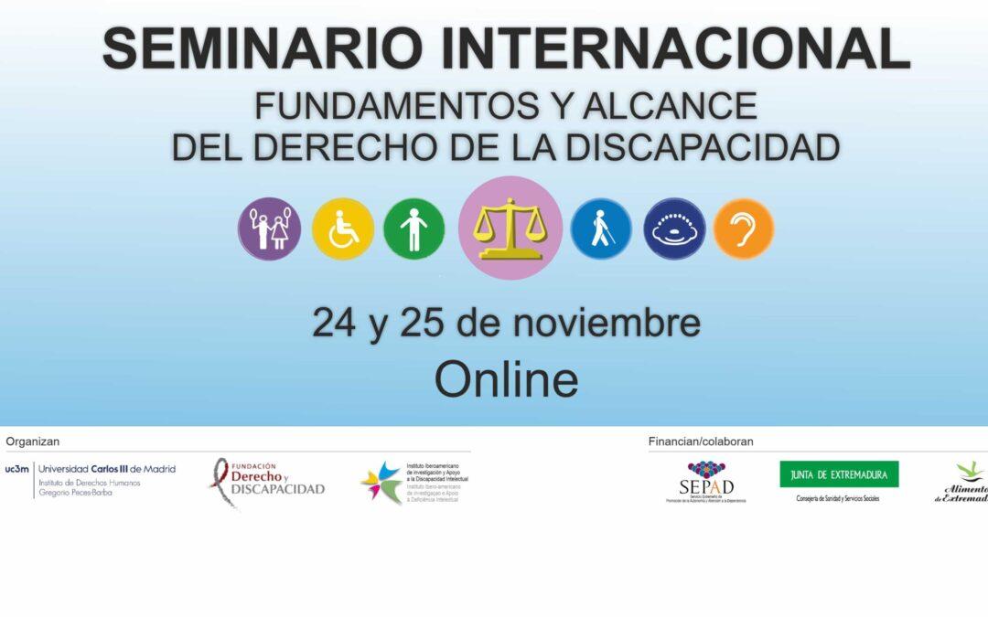 Seminario Internacional sobre Fundamentos y Alcance del Derecho de la Discapacidad